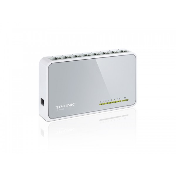 Switch de mesa de 8 portas 10/100Mbps TL-SF1008D