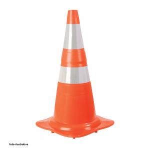 Cone Refletivo Sinalizador de Segurança-Laranja 75 cm