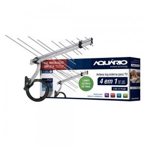 ANTENA LOG EXTERNA PARA TV 4 EM 1 VHF/UHF/FM E HDTV-LVU-11PLUS